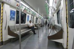Chengdu tunnelbanalinje 4 gångtunneldrev Royaltyfria Bilder