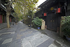 Chengdu width of the alley street Royalty Free Stock Images