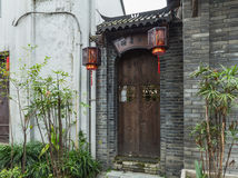 Chengdu width alley street view Royalty Free Stock Images