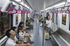 Chengdumetro lijn 3 metro Stock Foto's