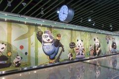 Chengdumetro lijn 3 metro Stock Afbeelding