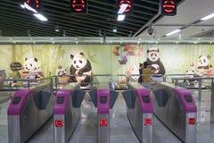 Chengdumetro lijn 3 metro Stock Afbeeldingen