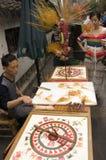 Chengdusuiker het schilderen Stock Afbeeldingen