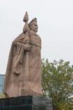 CHENGGU, CHINA - 8 NOV. 2014: Standbeeld van Zhang Qian, Chenggu, Hanz Royalty-vrije Stock Foto's
