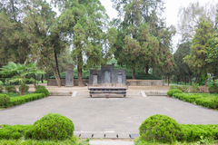 CHENGGU, CHINA - 8 NOV. 2014: Zhang Qian Tomb (Unesco-Wereldherita Stock Afbeelding