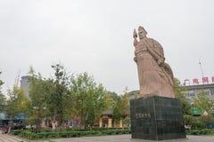 CHENGGU, CHINE - 8 NOVEMBRE 2014 : Statue de Zhang Qian, Chenggu, Hanz Image libre de droits