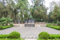 CHENGGU KINA - NOVEMBER 8 2014: Zhang Qian Tomb (UNESCOvärldsherita fotografering för bildbyråer