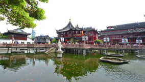 Chenghuang Temple and Yu Garden in Shanghai Stock Photos