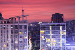 Chenglifang building under sunset glow Stock Image