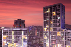 The chenglifang building under sunset glow Royalty Free Stock Photos