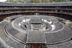 Chengqi Lou i den Gaobei klungan, Fujian landskap Kina Royaltyfri Fotografi