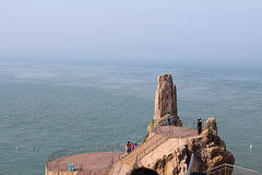 ChengShanTou sjösida Arkivbild