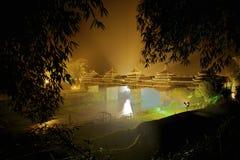 Chengyang-Brücke, Dong-Architektur, Liuzhou Lizenzfreie Stockfotografie