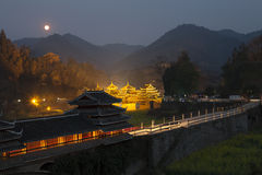 ChengYang village night view Royalty Free Stock Photography