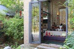 Chengyuan teväxt för kinesisk stil i den redtory idérika trädgården, guangzhou, porslin Royaltyfria Bilder
