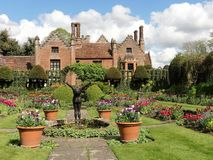 Chenies Manor House, a Tudor Grade I listed building, in springtime stock photography