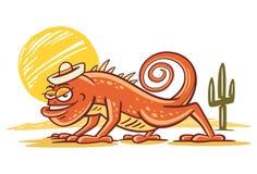 Chenille de désert d'iguane Photos libres de droits