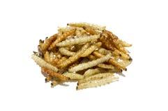 Chenilles frites Photographie stock libre de droits