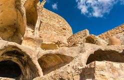 Chenini看法,一个被加强的巴巴里人村庄在南突尼斯 库存照片