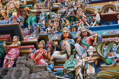 Chennai. Colorful sculptures on the ancient Kapaleeswarar temple in Chennai, Tamil Nadu province, India stock image