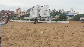 Chennai Beach stock image