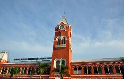 Chennai Central Station. Is an iconic building built during the British rule in India royalty free stock images