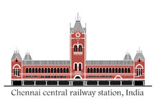 Chennai central train station Royalty Free Stock Photos