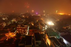 Chennai city at Diwali night Royalty Free Stock Photo