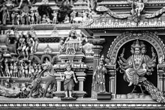 Chennai, India. Close view of religious figures of famous Arulmigu Kapaleeswarar Temple Stock Images
