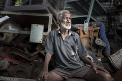 CHENNAI INDIA, LIPIEC, - 24 2017: Stary silnik i Zdjęcia Royalty Free