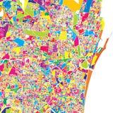Chennai, Indien, bunte Vektorkarte lizenzfreie abbildung