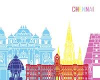 Chennai linii horyzontu wystrzał ilustracji