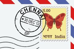 Chennai post stamp Royalty Free Stock Photos