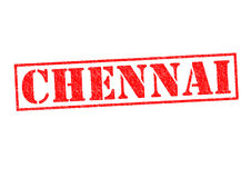 CHENNAI. Rubber Stamp over a white background royalty free stock photography