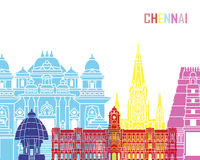 Chennai-Skylineknall stock abbildung