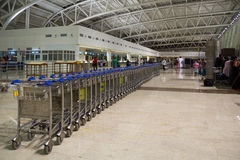 CHENNAI, TAMIL NADU, INDIA - APR. 28: Carts stand at the airport on APR. 28, 2014 in Chennai, Tamil Nadu, India Royalty Free Stock Image