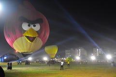 Chennai, Tamilnadu - India, il 6 gennaio 2019: Pallone arrabbiato dell'uccello nel festival di impulso dell'aria calda immagine stock
