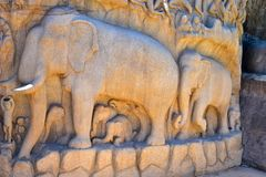 Free Chennai, Tamilnadu - India - September 09, 2018: Stone Carvings On The Face Of Royalty Free Stock Images - 134522339
