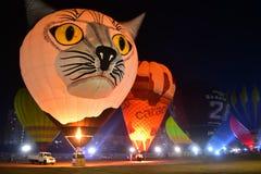 Chennai, Tamilnadu - Indien, am 6. Januar 2019: Heißluft Ballon-Festival stockfotos