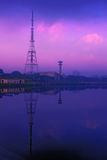 Chennai tv tower. Chennai television tower with reflection royalty free stock image