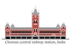 Chennai-Zentralbahnstation lizenzfreie abbildung