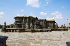 Chennakeshava寺庙复合体,贝鲁尔,卡纳塔克邦 全视图为 库存照片