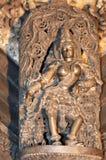 Chennakeshava Temple, Belur. Shilabalika celestial maiden in Chennakesava temple at Belur Stock Photos