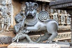 Chennakeshavatempel, Belur stock foto's