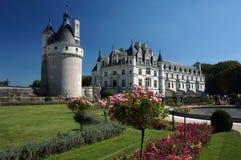 Chenonceau城堡和庭院 库存照片