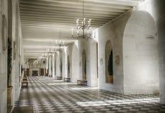 Chenonceau城堡的长的大厅 免版税库存图片