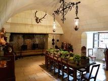 Chenonceau城堡,法国, servants& x27;餐厅 库存照片