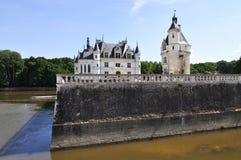 CHENONCEAU,大别墅的de Chenonceau,卢瓦尔河流域城堡农场 免版税库存照片