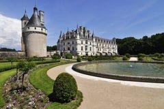 CHENONCEAU,大别墅的de Chenonceau,卢瓦尔河流域城堡农场 库存照片