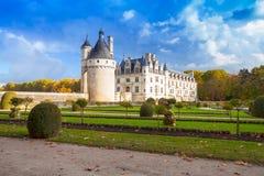 Chenonceau,皇家中世纪法国城堡 图库摄影